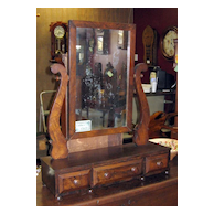 Burl Walnut Shaving Stand Circa 1850