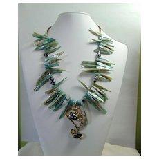 Modernist Blue Necklace