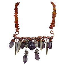 Amethyst n Copper on Amber