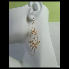 14KGF Sculpted Wire Earrings
