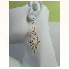 Sculpted 14KGF Wire Earrings