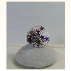 Stars n Moon Adjustable Ring