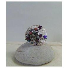 Stars n Moon Adjustable Ring