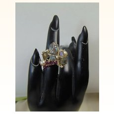 Labradorite n Cultured Freshwater Pearl on Sterling Silver Ring