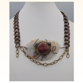 Agates Chained Choker