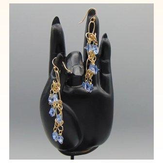 Swarovski Stars on Sculpted 12KGF Wire Earrings