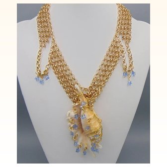 Netted Treasure Necklace