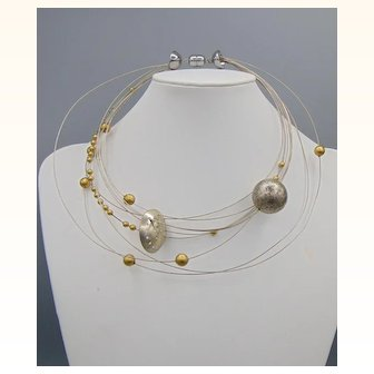 Necklace n Bracelet Set by Maria Calderara