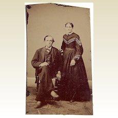 "Victorian Tintype ""Smiling Couple"""
