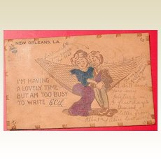 1908 Romantic Leather Postcard