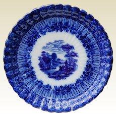 "Wonderful 9"" Flo Blue Scalloped Edge Plate"