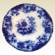 "English 19th Century Flo Blue 10 1/4"" Plate ""CARLTON"