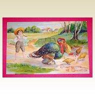 11-27-1907 Thanksgiving Grettings Postcard