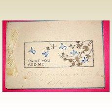 Antique 1905-1910 Christmas Card Blue Birds