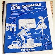 """1954 Sheet Music """"The Little Shoemaker"""""""