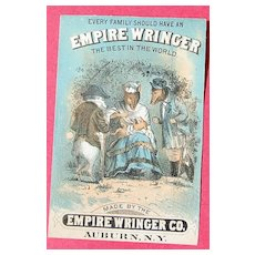Vintage Advertising Trade Card Empire Wringer Co.