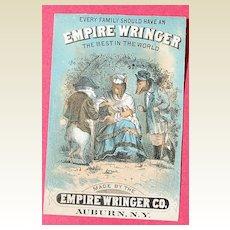 Vintage Advertising Trade Card Empire Wringer Co.