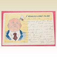 Unusual Edwardian Post Card Bumble Bee