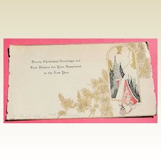 1920's Large Size Christmas Card