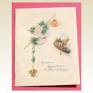 British  Embossed 1920's Christmas/New Years Card Dickens & Tourneur