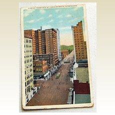 1919 Vintage Postcard View Of Twentieth St. Birmingham