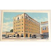 Vintage Evangeline Hotel Lafayette Louisiana Postcard