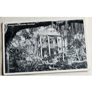 Vintage Postcard Hampton Hall Woodville Mississippi