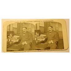 1910 Stereophotography Stereoview Card Mr. R. W. Sears At His Desk No.1