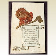 1907 Embossed Turkey Thanksgiving Post Card