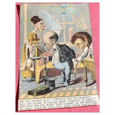 Trade Card Jacksons Best Tobacco