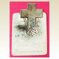 Vintage Embossed Religious Easter Card