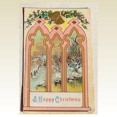 Vintage A Happy Christmas Postcard