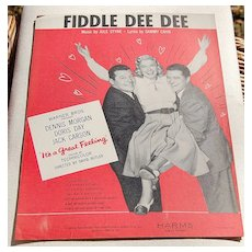 Vintage 1959 Fiddle Dee Dee Sheet Music