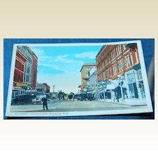 Vintage Postcard 5th Street Looking East Meridian Mississippi