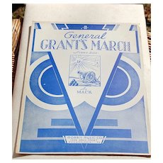 1933 Vintage Sheet Music General Grant's March By Mack