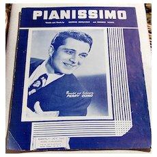 1947 Vintage Sheet Music Pianissimo Perry Como