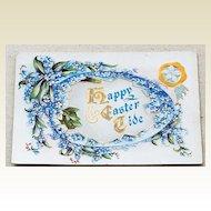 Vintage Embossed Happy Easter Tide Postcard