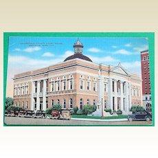 Vintage Postcard Lauderdal County Court House Meridian Mississippi
