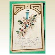 1908 Embossed Floral Birthday Post Card