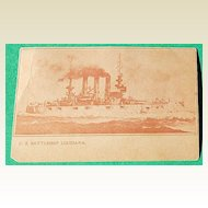 Vintage U. S. Battleship Louisiana Post Card