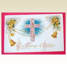 Vintage 1909 H. Wessler  Embossed Easter Post Card