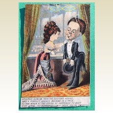 Victorian Trade Card Jacksons Best Tobacco
