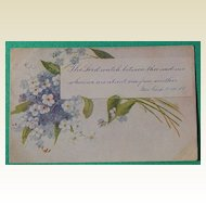 1907 Floral Religious Post Card #5314