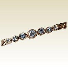 Vintage 14K Gold Diamond Bracelet 0.75 CT