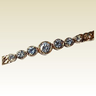 Vintage 14K Gold Diamond Bracelet 0.75 CT
