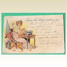 1906 Excuse The Liberty Of Writing You Post Card