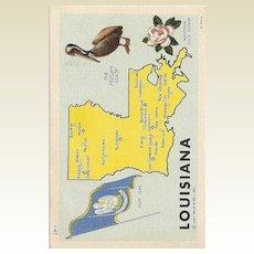 Vintage Louisiana State Post Card