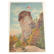 1947 Chimney Rock, Western North Carolina Postcard #220
