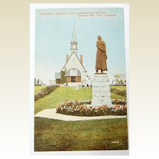 Vintage Memorial Church & Evangeline Statue