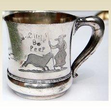 Victorian Meriden Little Bo Peep Baby Cup